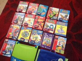 16 books bag and cartridges LeapPad learning system