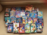 Disney vhs videos and player