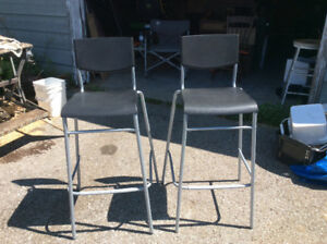 PAIR OF NEWER BAR OR KITCHEN ISLAND STOOLS