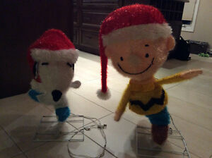Decoration noel - snoopy et peanut - lumiere