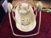 Baby swing, good condition, musical.
