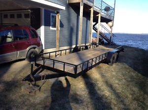 Tandem Utility Trailer- holds 2 side by sides
