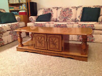 Coffee table & two end tables for sale