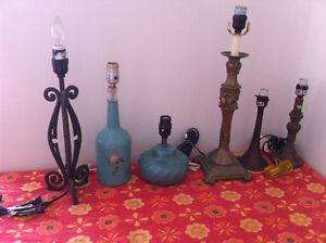 Lot de 6 lampes a vendre