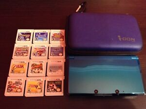Good Condition 3ds with 12 Games, Charger and Case