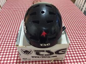 TSG skate/bike helmet. Size large/x large, youth, black gloss