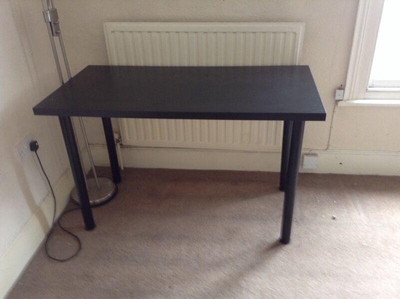 Ikea Table Desk Black With Screw On Legs In Norwich