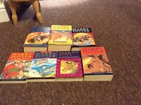 All seven of the Harry Potter books in good condition