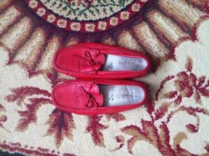red leather italian shoes