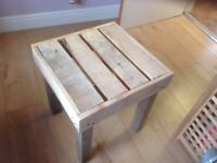 Up cycled Coffee or bed side table