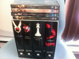 The Twilight Complete Hard Cover Books+4 DVD Movies