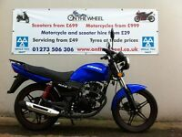 2016 SINNIS MAX 2 125 BLUE / BLACK BRAND NEW!