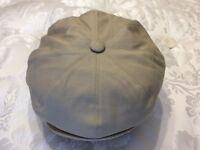 Gatsby/bakerboy/8 segment beige cotton cap XL