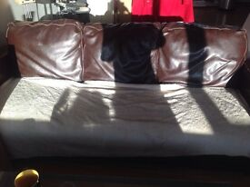 Faux leather sofa free for collection