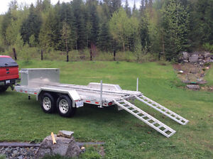 Utility Flatbed Trailer Custom Built with REMOVABLE Cargo Box Prince George British Columbia image 2