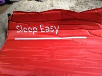 Self inflating camping mat, rolls up, easy to carry