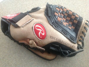 Kids rawlings baseball glove size 10.5 inches
