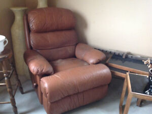 Two leather reclining chairs
