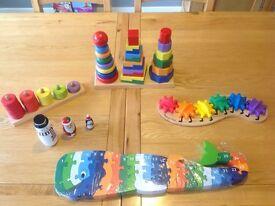 Selection Of Children's Toddler Infant Wooden Toys John Crane Melissa & Doug Etc