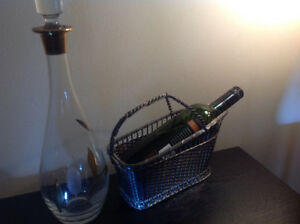 Made in France wine holder with decanter
