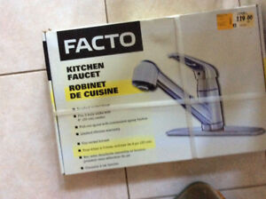 NEW Factco Kitchen Faucet, pull out spout and spray button