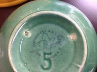 ANTIQUE BOWL MADE BY MEDECINE HAT POTTERIES