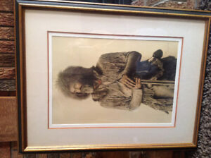 Artist print  signed and numberJames Bama mountain man 1820-1840
