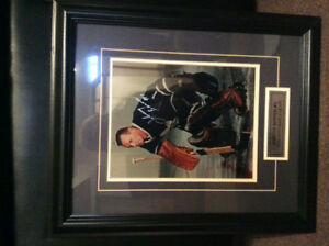 Johnny Bower Framed Signed photo