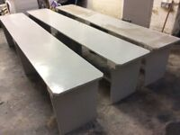 3 x strong Benches 8ft long / FREE Glasgow delivery