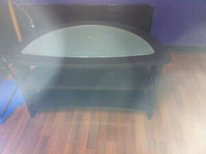 3 tier tv stand with frosted glass top  $50