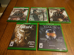 Games: Fallout, Halo, Ryse, Tomb Raider
