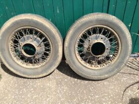 Two Armstrong Sidley spoked Wheels