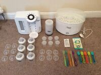 REDUCED Tommee Tippee Bundle - Steriliser, Perfect Prep Machine, Bottle Warmer + Extras