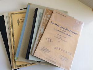 7 anciens cahiers livres de partitions musique religieuse