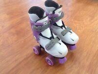 Girls skates - adjustable size 12,1,2 - kids quad skates