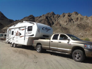 Cougar 5th wheel travel trailer