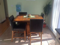 Bar height kitchen table