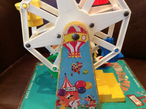 Vintage Fisher Price Little People Play Family Ferris Wheel #969