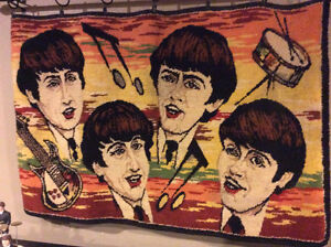 Extremely Rare 1960's The Beatles Rug / Mat