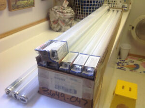 Fluorescent tubes and 8' fixture