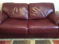 Leather 3 seat sofa bed and 2 seater sofa