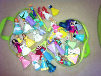 Bundle of Polly Pocket Dolls and Clothes