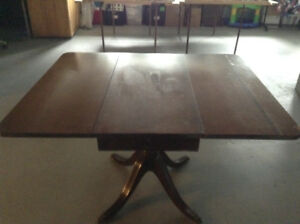 Knechtel antique drop leaf dining table
