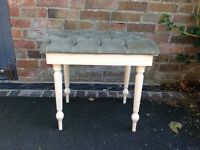 Vintage shabby chic dressing table stool