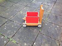 Childs Vintage Wooden Truck Trolley