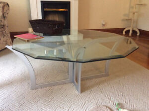 Glass table top/coffee table for sale