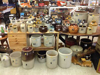 $------__ANTIQUE STONEWARE CROCKS FOR SALE__-----$