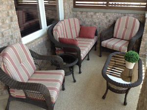 Outdoor Patio Set Couch, Chairs & Tables