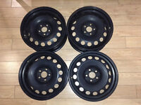 "Genuine OEM VW 16"" Steel Rims"