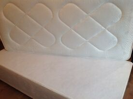 Single bed with mattress and divan